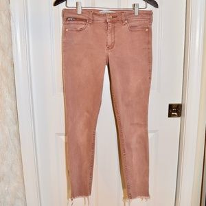 Abercrombie Skinny Dusty Rose Ankle Jeans Size: 4